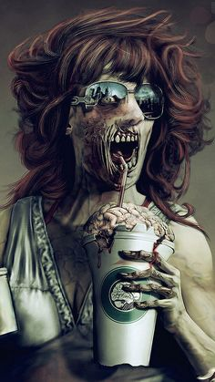 Think my Starbucks gold card will still be good once the zombie apocalypse starts? #starbucks #zombie