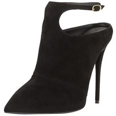 Pre-owned Giuseppe Zanotti Suede Ankle-strap Black Boots (27.045 RUB) ❤ liked on Polyvore featuring shoes, boots, ankle booties, black, pointed toe booties, black ankle boots, suede bootie, black boots and black suede bootie