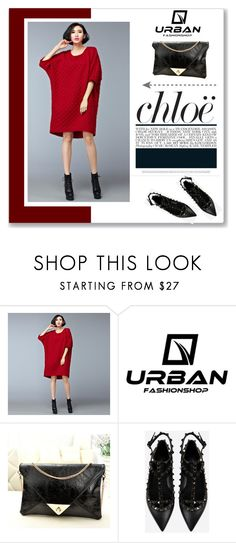 """URBAN FASHION SHOP"" by amra-mak ❤ liked on Polyvore featuring Chloé, Valentino and urbanfashionshop"