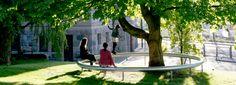 ronan & erwan bouroullec install outdoor sitting rings in denmark