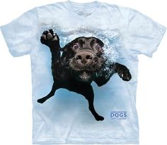 """UNDERWATER DOG /""""CHARLY/"""" ADULT T-SHIRT THE MOUNTAIN SETH CASTEEL"""
