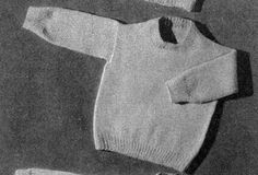 Pullover knit pattern from Lacey's Baby Book, originally published by the T.M. Lacey, Volume 20.