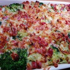 Broccoligratäng med cheddar och ugnsbakad torsk | Tjockkocken