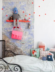 fun idea with branches #decor #colors #bedrooms #quartos #kids