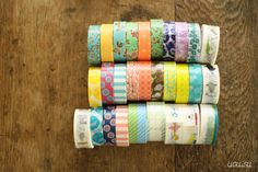 +UGUiSU Blog: New Japanese Washi Tapes - Colte Kids & Floral Series