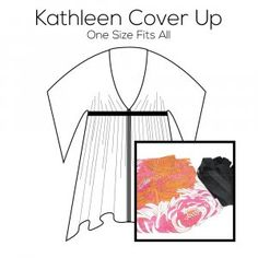 Kathleen Cover Up Pattern with Pink Fabric Kit Pink Fabric, Pattern Paper, Cover Up, Kit, Prints