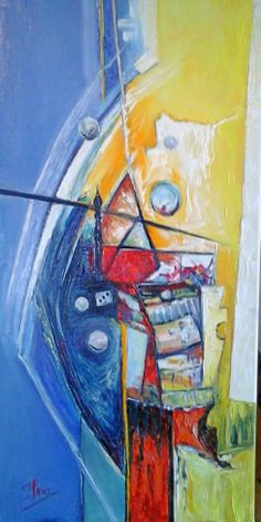 oil paintings 30x60 cm Abstract space for sale