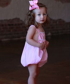 This Pink & White Bubble Romper - Infant by Sweet Teas Children's Boutique is perfect! #zulilyfinds