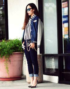 Shop this look on Kaleidoscope (jacket, blouse, pumps)  http://kalei.do/WtiVCHF8mapAO2Mx