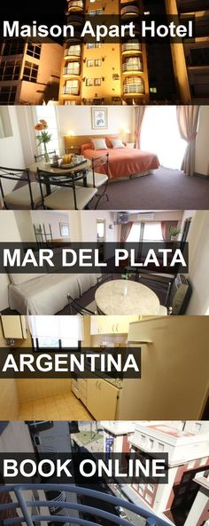 Hotel Maison Apart Hotel in Mar del Plata, Argentina. For more information, photos, reviews and best prices please follow the link. #Argentina #MardelPlata #MaisonApartHotel #hotel #travel #vacation