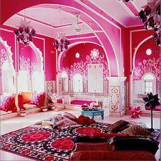 I've always loved this room. It belongs to Liza Bruce, the swimwear designer. India.