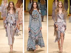 The Italian fashion house presents a lesson in sophisticated boho styling – think printed maxi dresses, silk wide-leg pants and more. #ETRO