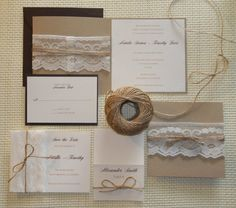 Rustic Wedding Invitation by vanillacollections on Etsy, $5.00
