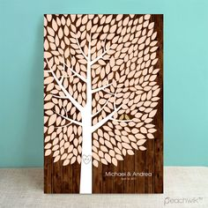 Rustic Richwood Wedding Tree Guest Book Alternative - Wedding Wish Tree - By Peachwik