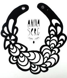 Колье из натуральной кожи от дизайнера Anna Serg