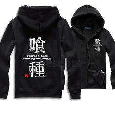 Tokyo Ghoul Logo Zip Up Hoodies