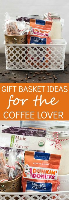 Gift Basket Ideas for the Coffee Lover - Shopping for a hard to shop for family or friend? Do they enjoy coffee? Make them an incredibly tasty gift basket for a coffee lover! #DunkinToTheRescue (ad)