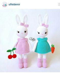 Instagram @_cigdemcee_ ~ crochet amigurumi doll dresses ~ great idea for baby girl preemie dresses ~ pic only