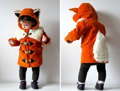Two creative full-time moms Nat and Naomi are making super adorable children's clothes that turn kids into little foxes, bears, rabbits and other animals. The UK-based creative duo sell them on their Etsy shop OliveAndVice that they named after their children.