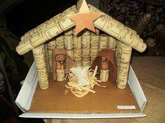 presépio artesanal - Pesquisa Google Nativity Crafts, Christmas Nativity, Kids Christmas, Handmade Christmas, Christmas Crafts, Christmas Decorations, Christmas Ornaments, Wine Craft, Wine Cork Crafts