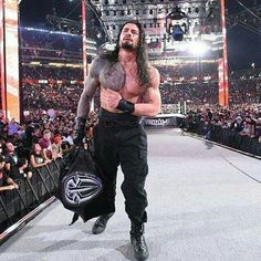 Relive all the drama, entertainment and excitement of WrestleMania 31 with this photo gallery of the event's 50 most iconic images. Wrestlemania 31, Roman Regins, The Shield Wwe, Wwe Roman Reigns, Seth Rollins, Roman Empire, Wwe Superstars, Future Husband, Cool Photos