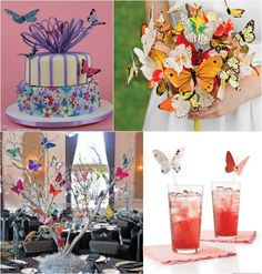 Color & Theme Trends for 2015 / 2016 - Butterfly Theme Ideas for a Bat Mitzvah, Wedding, Sweet 16 or Party - mazelmoments.com