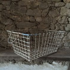 French Vintage Oyster Basket From La Rochelle