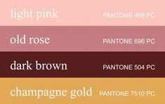 These are my colors! I call it Dusty Rose, which is the pink/brown, and light…
