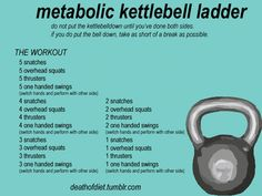 No time to workout? That's no longer an excuse! You can perform a kickass fat burning, muscle building kettlebell workout at home in under 10 minutes. Studies show that High Intensity Interval Training (Hiit), like this kettlebell ladder are extremely effective at burning fat and building muscle in short periods of time. Today you will be the best You possible!