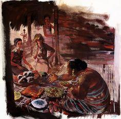 Le marché africain par René Follet - Illustration