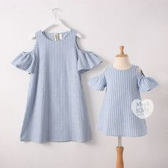 Nice Info YorkZaler Summer Autumn Matching Mother Daughter Dresses Clothes Mom Girl Baby Kid Striped Strapless Dress Sundress Family Look Mommy Baby Matching Outfits, Mom And Baby Outfits, Mother Daughter Dresses Matching, Baby Outfits Newborn, Mother Daughter Fashion, Mom Daughter, Dress Outfits, Girl Outfits, Baby Frocks Designs