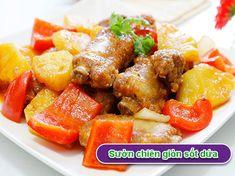 Sườn chiên giòn sốt dứa hấp dẫn cuối tuần - http://congthucmonngon.com/212853/suon-chien-gion-sot-dua-hap-dan-cuoi-tuan.html