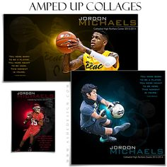 Design custom sports collages with our photography templates. Our line of Photoshop templates for sports makes designing custom collages easy. Photoshop Pics, Photoshop For Photographers, Photoshop Photography, Photoshop Tutorial, Photoshop Actions, Basketball Posters, Photography Templates, Collage Template, Sports Pictures