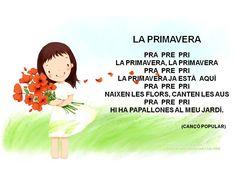 Poema de primavera Learn A New Language, Pre School, Valencia, Spanish, Teaching, Songs, Spring, School Ideas, School