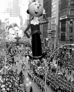 """Watched the Macy's parade on TV. They had the first woman balloon—Olive Oyl."" -11/25/82 Warhol diary entry"