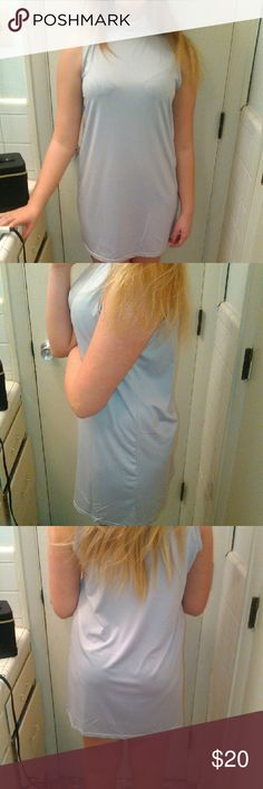 Slip dress mini Soft to touch dove gray feels great against your skin mid thigh on my model who is 5'5 never worn except for model pics Dresses Mini
