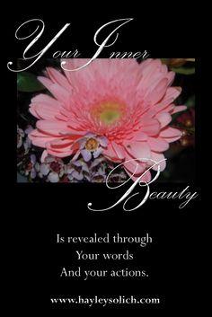 Inner beauty shines.