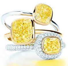 Receiving a Tiffany yellow diamond engagement ring has been my dream for awhile now. Yellow Diamond Engagement Ring, Yellow Diamond Rings, Sapphire Rings, Sapphire Jewelry, Pink Sapphire, Canary Diamond, Colored Diamonds, Yellow Diamonds, Tiffany Jewelry
