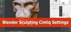 Blender sculpting settings for the Wacom Cintiq  13 HD