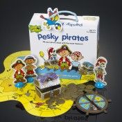 Fill your pirate chest with the most treasure! Great fun for kids and parents. Help your child learn through play with this game that's easy to set up.