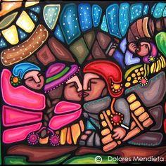 """""""Sólo el amor alumbra lo que perdura""""  Obra: Detalle de """"Hacia Puntita Corral"""" (2008), autora: Dolores Mendieta. Southwestern Art, Culture Shock, Arte Popular, Mexican Art, Graffiti Art, Bowser, Folk Art, Street Art, Mosaic"""