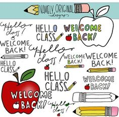 "Freebie!!! Love these!  Can be used on so many ""Back to School"" forms. "" Welcome Back to School word set!"""