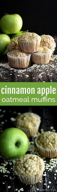Just five minutes of prep is all that stands between you and a dozen of these delicious Cinnamon Apple Oatmeal Muffins.  A jumpstart from a homemade oatmeal muffins mix and seasonal apple and cinnamon flavor combination make these muffins a winner each and every time!