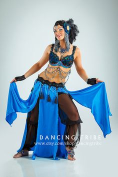 SALE 20 OFF Belly Dance Skirt Pants Set Tribal by DancingTribe, $152.00