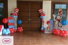 Agel T's Birthday / Dr. Suess - Easton's Birthday at Catch My Party Dr Seuss Party Ideas, Dr Seuss Birthday Party, Baby 1st Birthday, First Birthday Parties, Birthday Party Themes, Birthday Ideas, Dr Seuss Baby Shower, Twins 1st Birthdays, Dr Suess