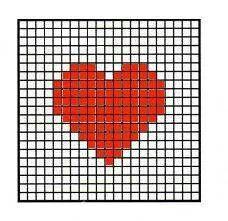 Patroon voor een hartjesdeken