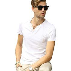 Minibee Men's Summer Short Sleeve V Neck T-shirt(White-M) Minibee http://www.amazon.com/dp/B00WFNV4LE/ref=cm_sw_r_pi_dp_OKpEvb0K99ES0