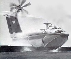 Ekranoplan, part plane, part ship, part hovercraft, all Russian Flying Ship, Flying Boat, Luftwaffe, Amphibious Aircraft, Flying Vehicles, Float Plane, Ground Effects, Experimental Aircraft, Cruises