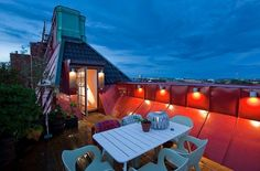 Stockholm Triplex Penthouse With A Faboulous Rooftop Terrace A roof garden is… Rooftop Terrace Design, Rooftop Deck, Rooftop Garden, Outdoor Spaces, Outdoor Living, Outdoor Decor, Porches, Interior Architecture, Interior And Exterior