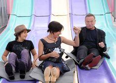 Zelda Williams Photos - Robin Williams and His Kids on a Slide - Zimbio